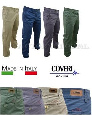 Pantalone Coveri Cotone Microfantasia Tasca America