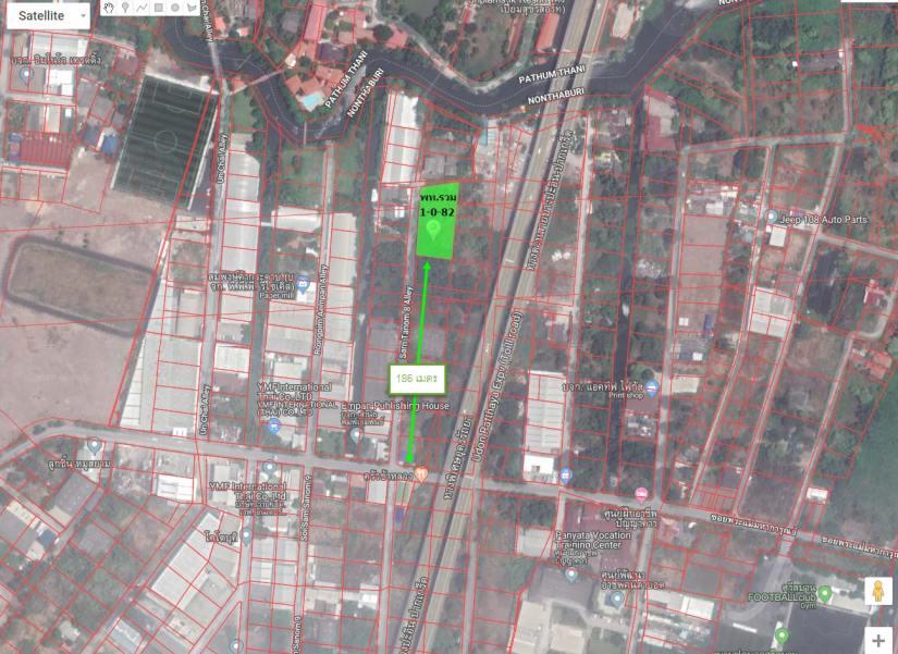 ขาย ที่ดิน นนทบุรี ติวานนท์ พระแม่มหาการุณย์ ซอย 33  ขนาด 482 ตรว. ทำเลดี การคมนาคมสะดวก สามารถออกได้หลายทาง รูปสี่เหลี่ยมพื้นผ้า ถูกและดี