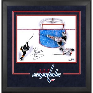 Autographed Washington Capitals Braden Holtby Fanatics Authentic Deluxe Framed 16'' x 20'' 2018 Stanley Cup Champions Making Save Photograph