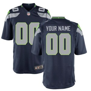 Youth Seattle Seahawks Nike College Navy Custom Game Jersey