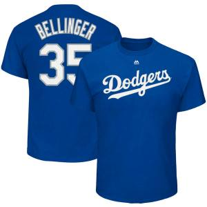 Youth Los Angeles Dodgers Cody Bellinger Majestic Royal Player Name & Number T-Shirt