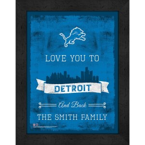 Detroit Lions Personalized Love to and Back Frame