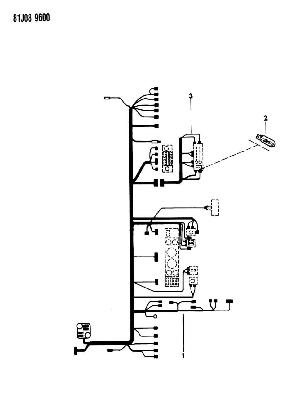 Wiring Instrument Panel Xj Cherokee Xj Wagoneer Comanche