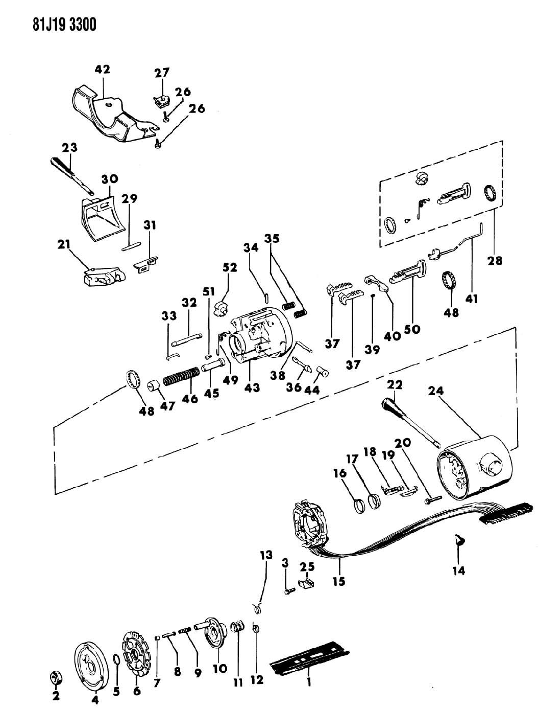 Jeep Housing Steering Column Upper With Floor Shift With