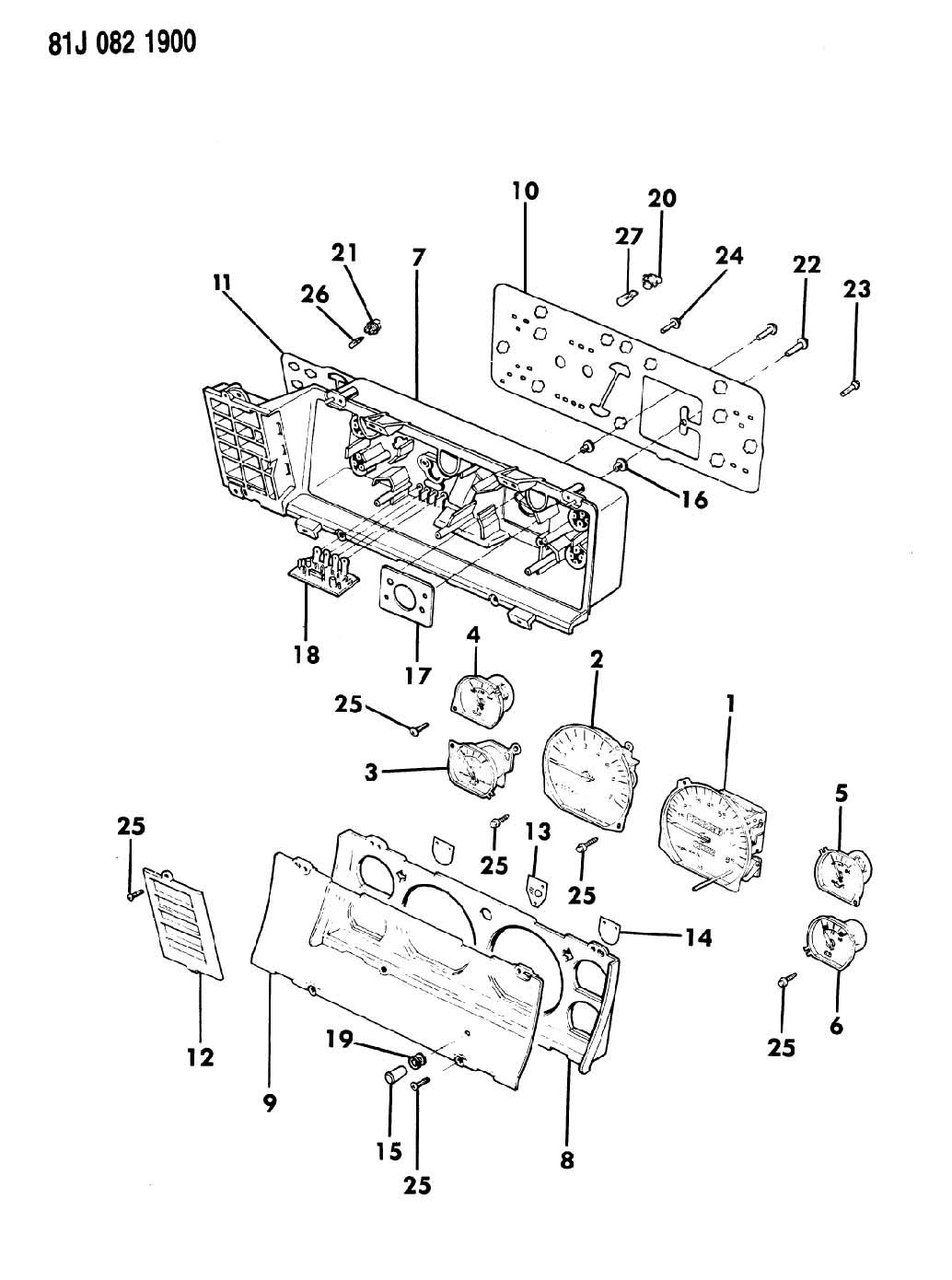 Jeep Cherokee Instrument Cluster With Gauges