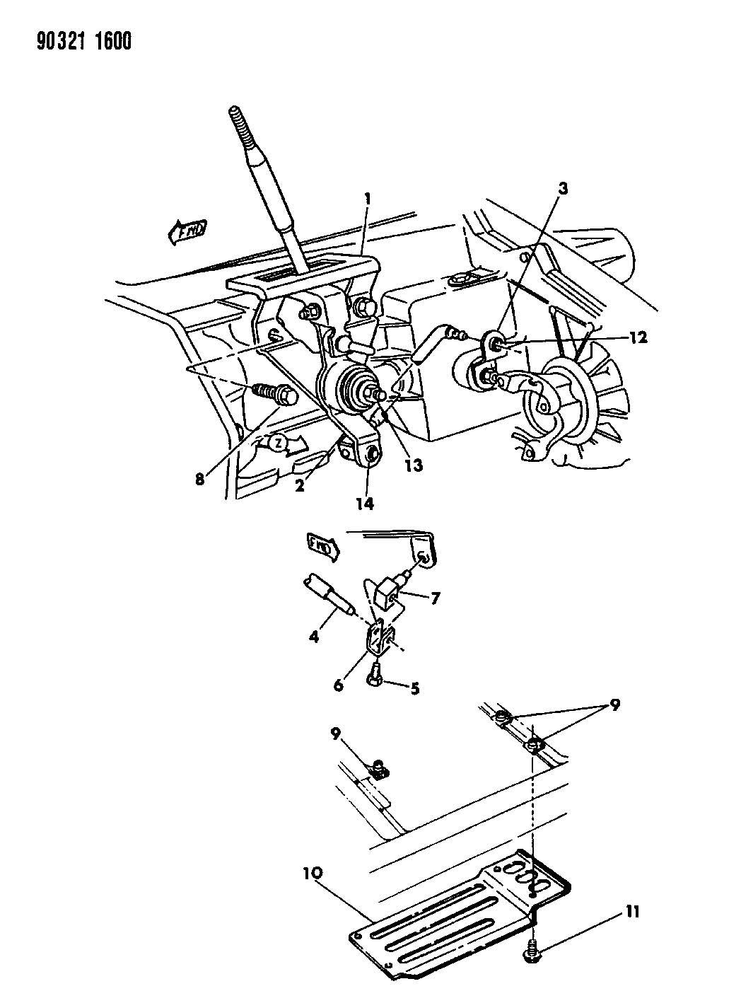 Dodge Dakota Controls And Mounting Transfer Case N P