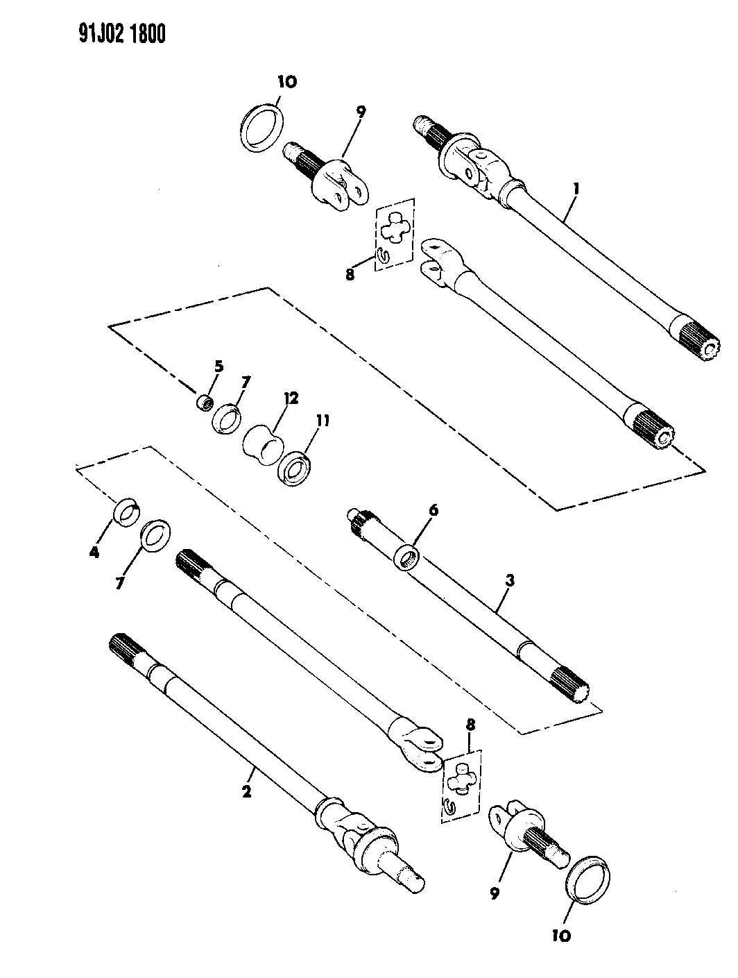 Dodge Ram Bushing Intermediate Shaft Shaftsdana