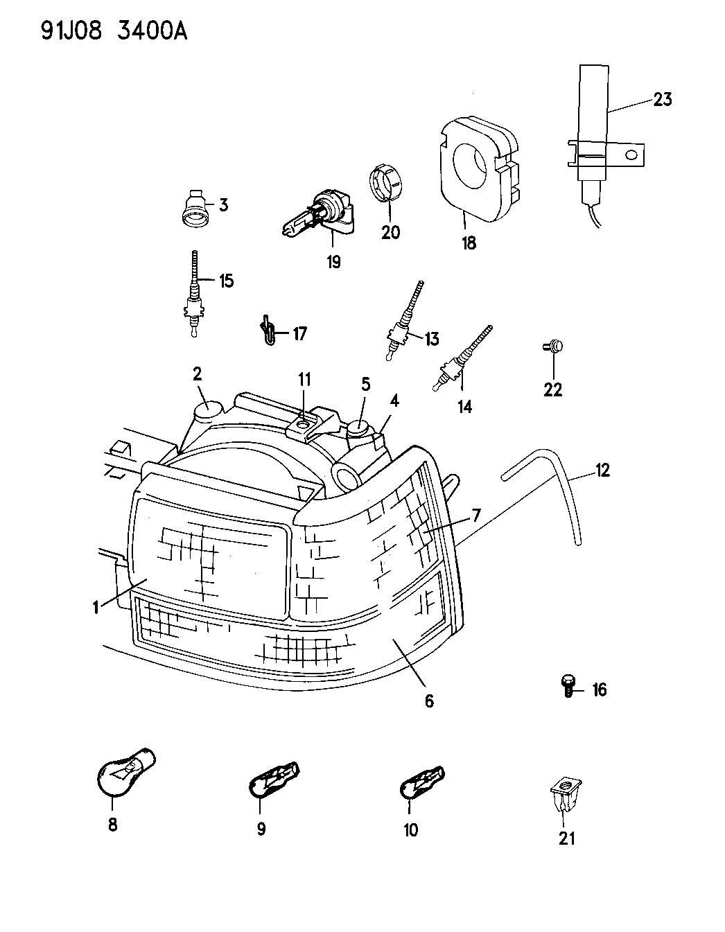 Jeep Grand Cherokee Gear Hdlp Headlamp Adjusting