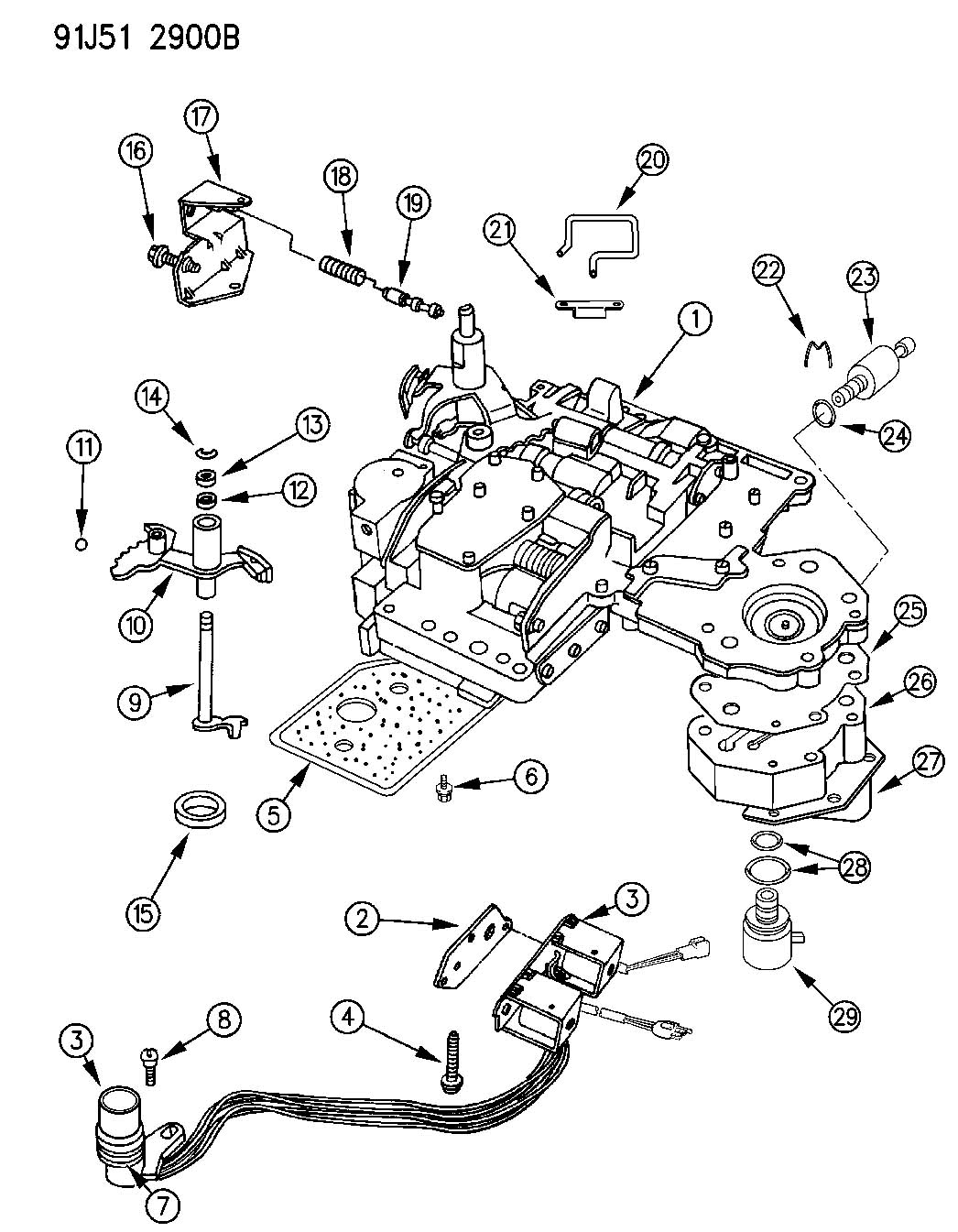 Jeep 42re Transmission Diagram