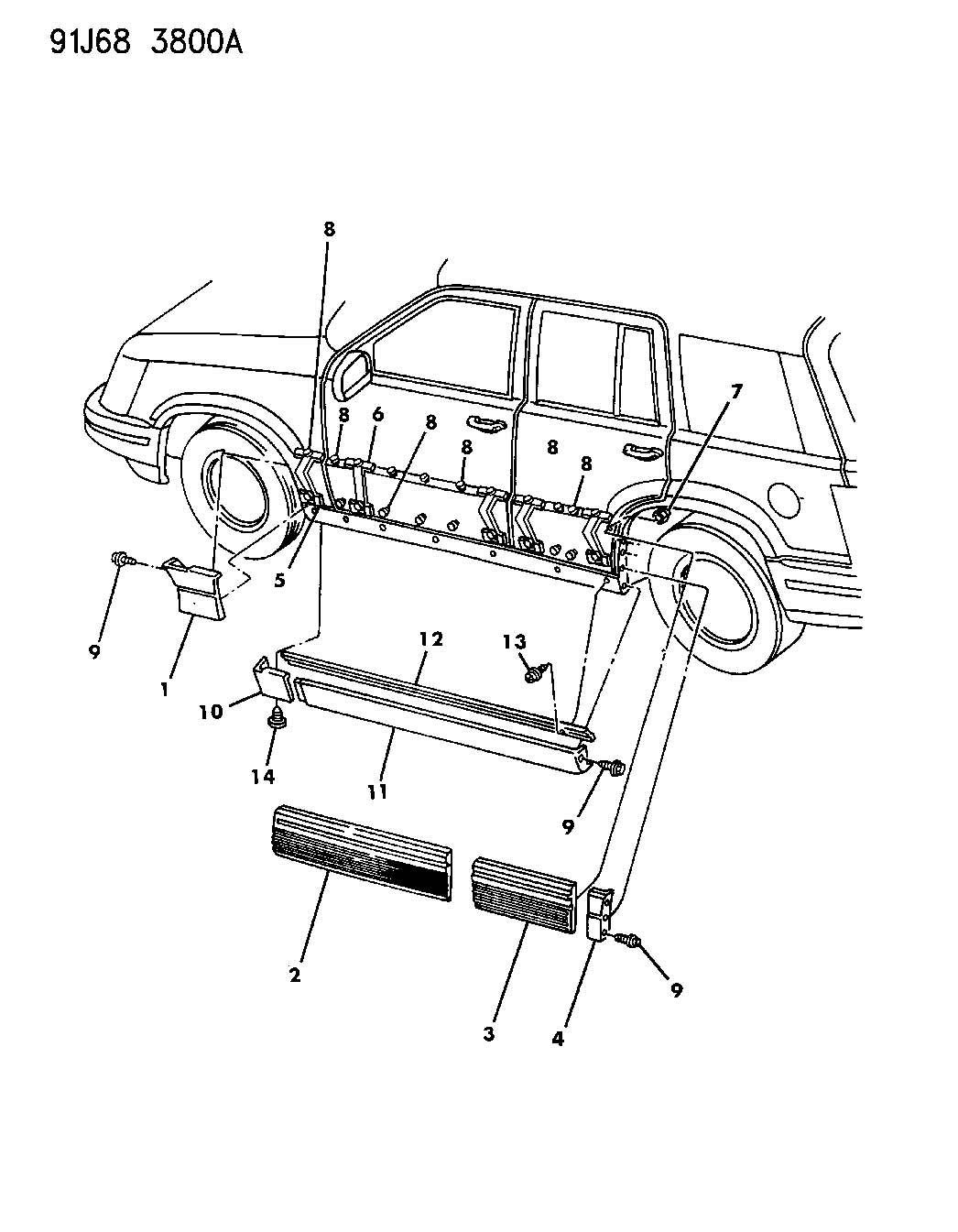 Jeep Cherokee Body Parts