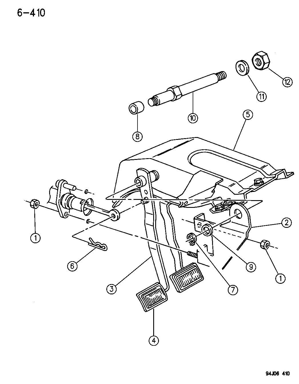 Jeep Wrangler Pedal Clutch Wrangler Yj