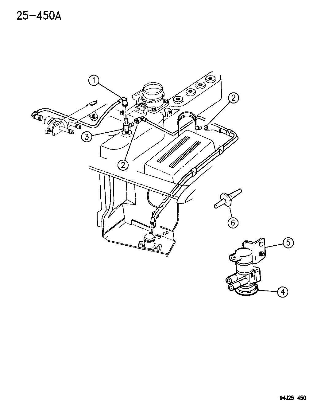 Dodge Ram Valve Valve Package Check Vacuum