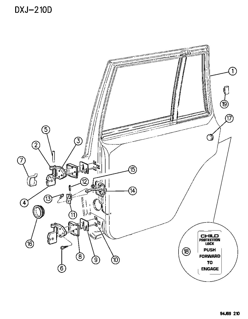 Jeep Cherokee Hinge Door