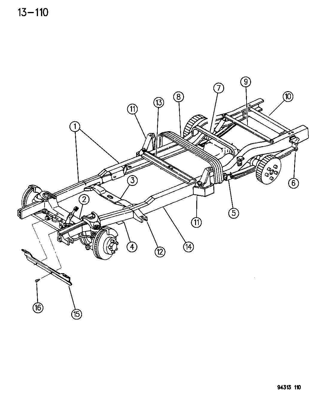 Diagram Dodge Dakota Frame