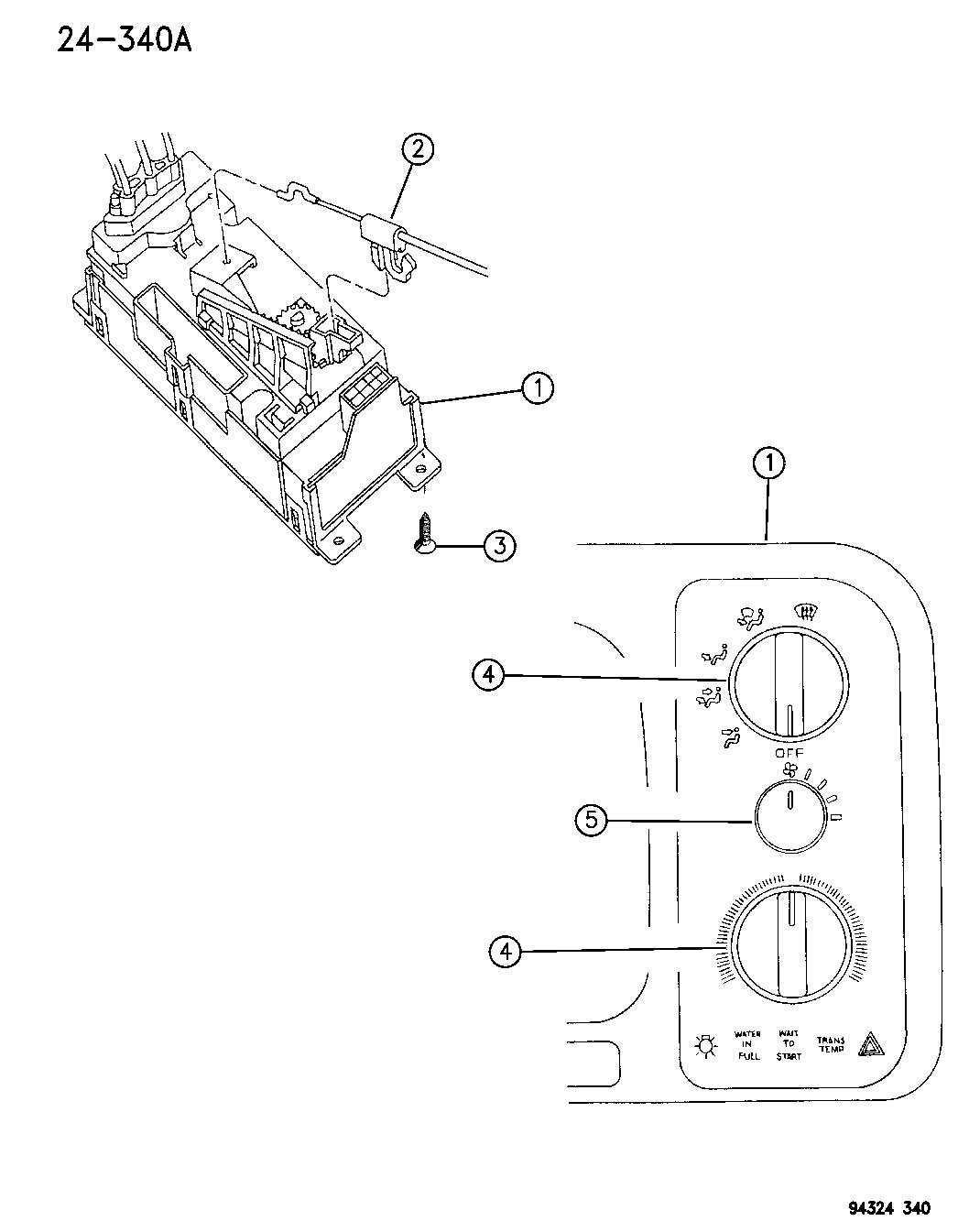 Dodge Ram Cable Temperature Control Cable