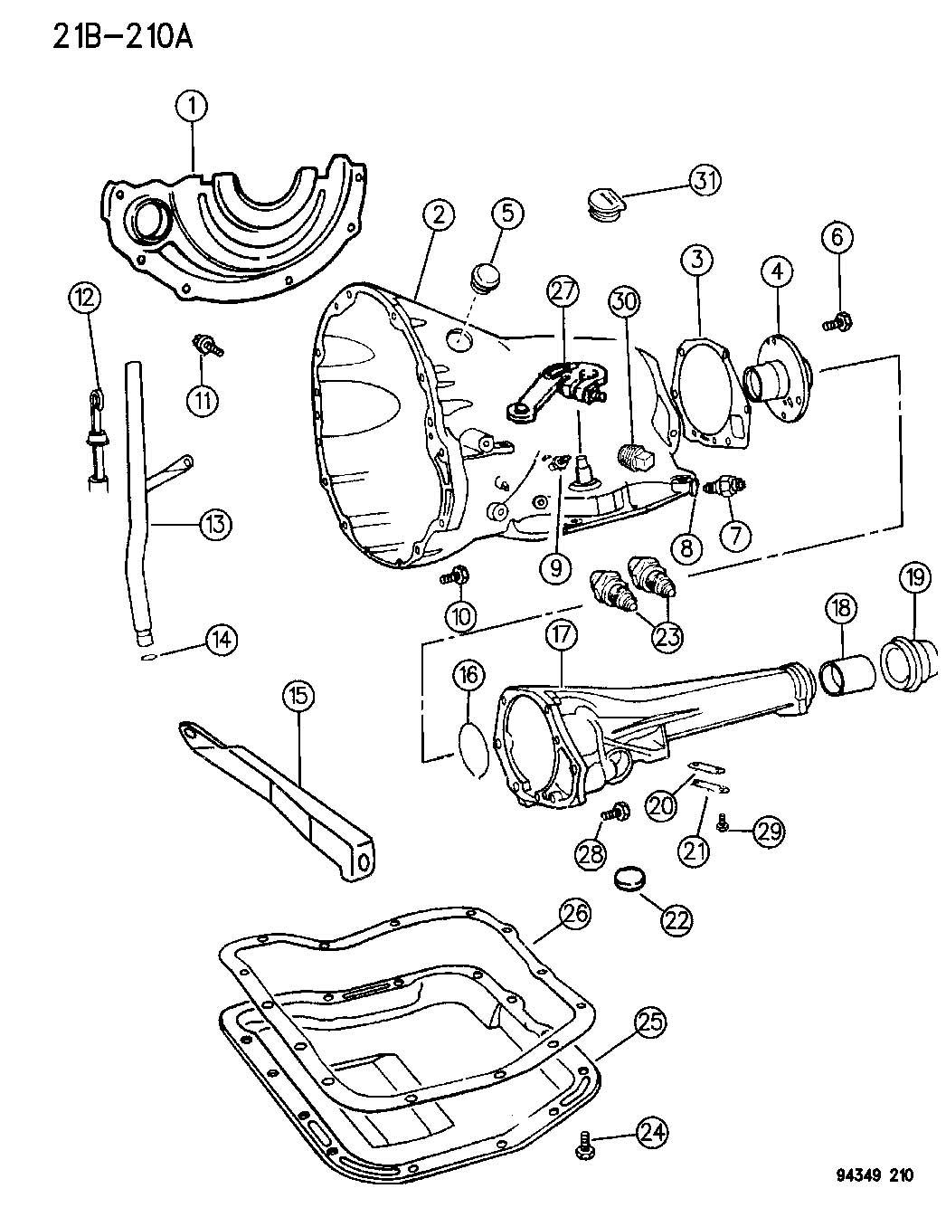 Dodge Ram Grommet Timing Probe Bnd Nbr Panclutch