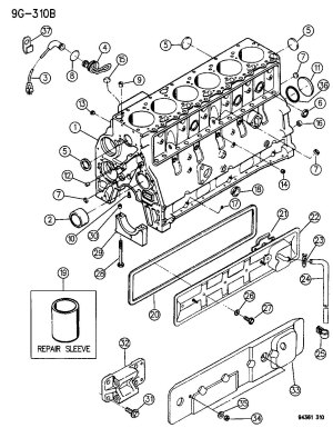 CYLINDER BLOCK 59L ENGINE CUMMINS DIESEL