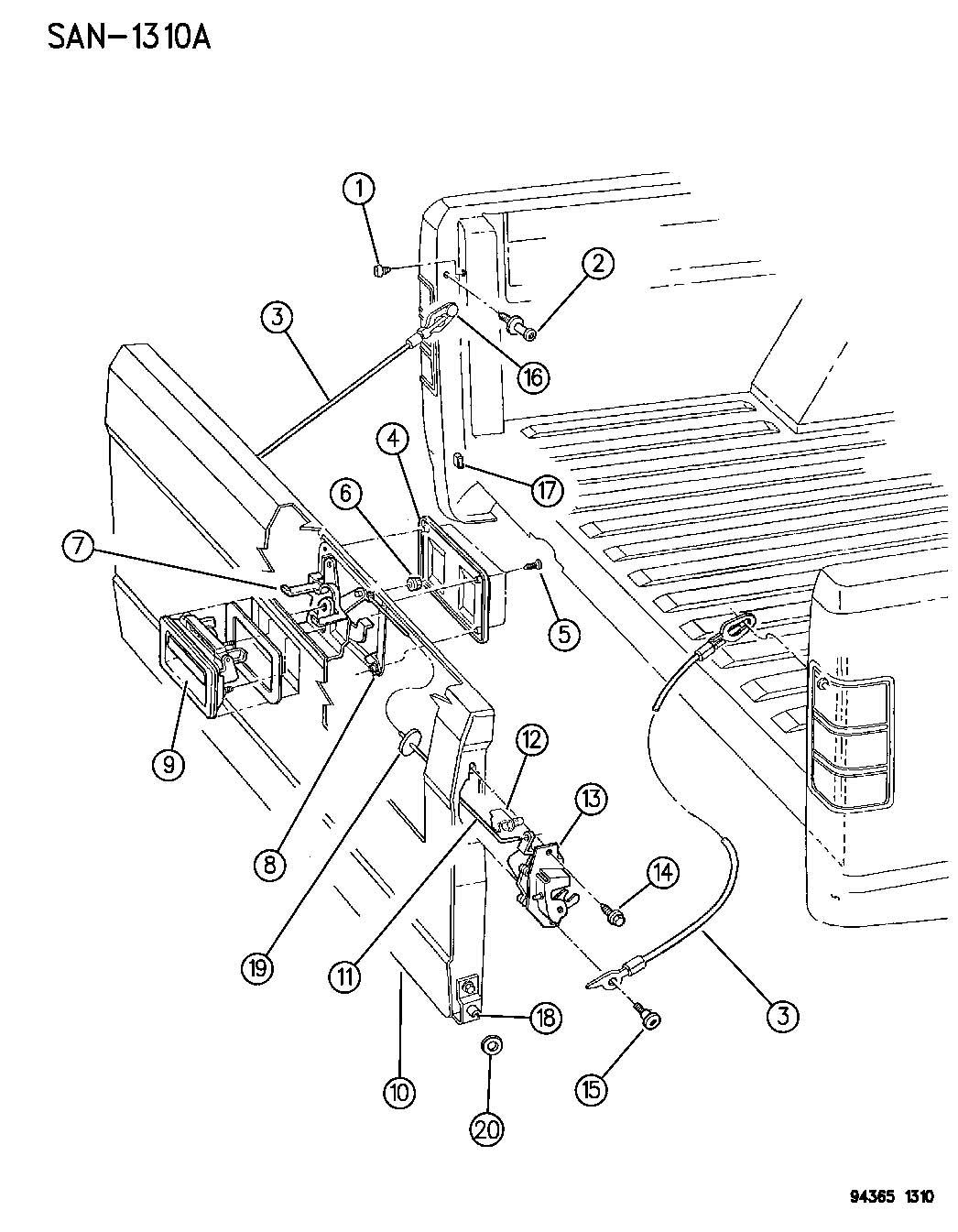 1994 dodge dakota club tail gate washer repair on 1997 plymouth breeze fuse diagram