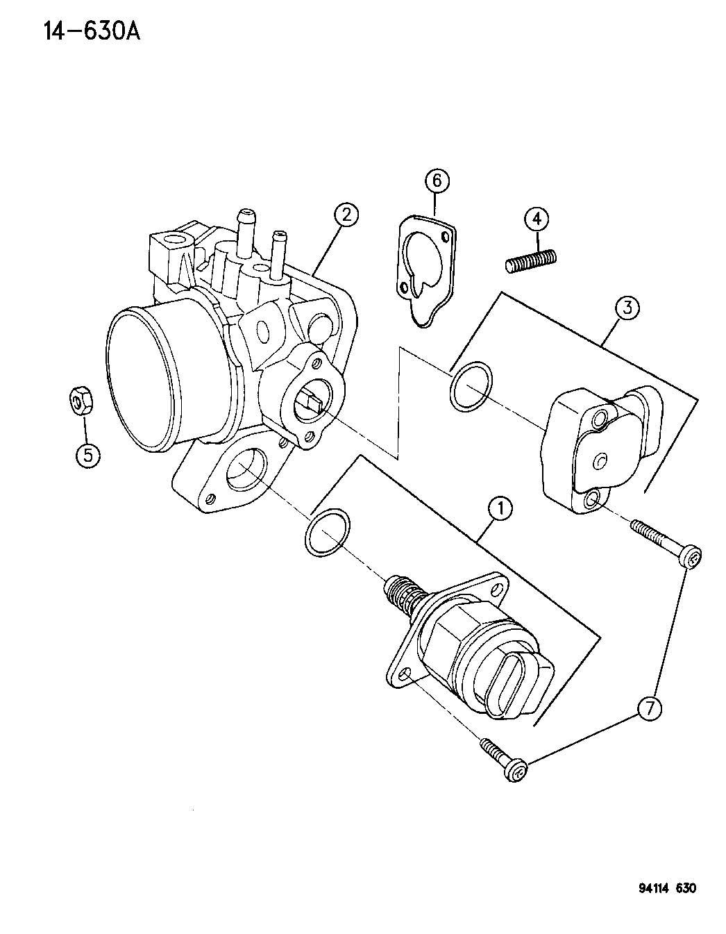 Dodge Grand Caravan Sensor Throttle Position