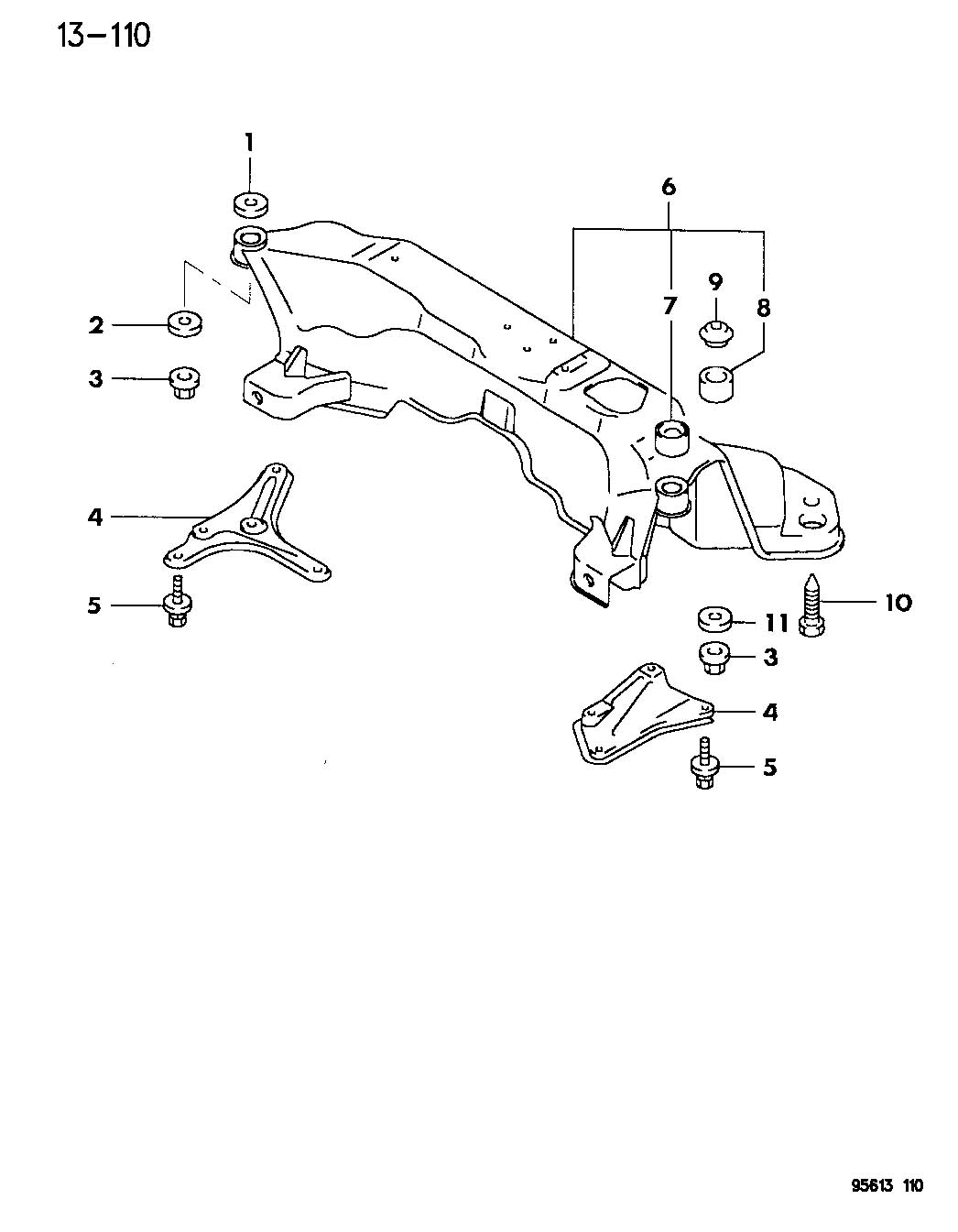 Eagle Talon Crossmember Front Axle