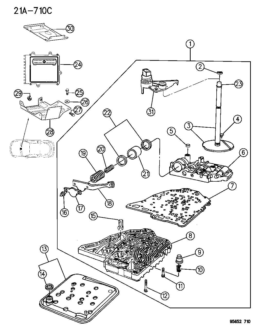 Dodge Grand Caravan Sensor Transmission Range Prnodl