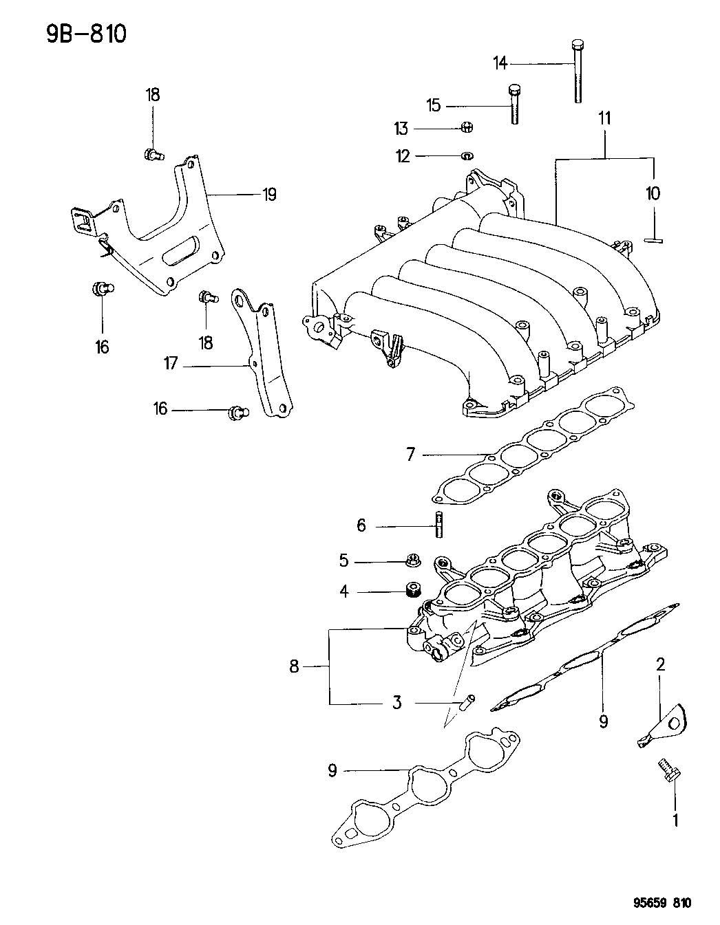 Dodge Avenger Manifold Intake 2 5l V 6 Engine