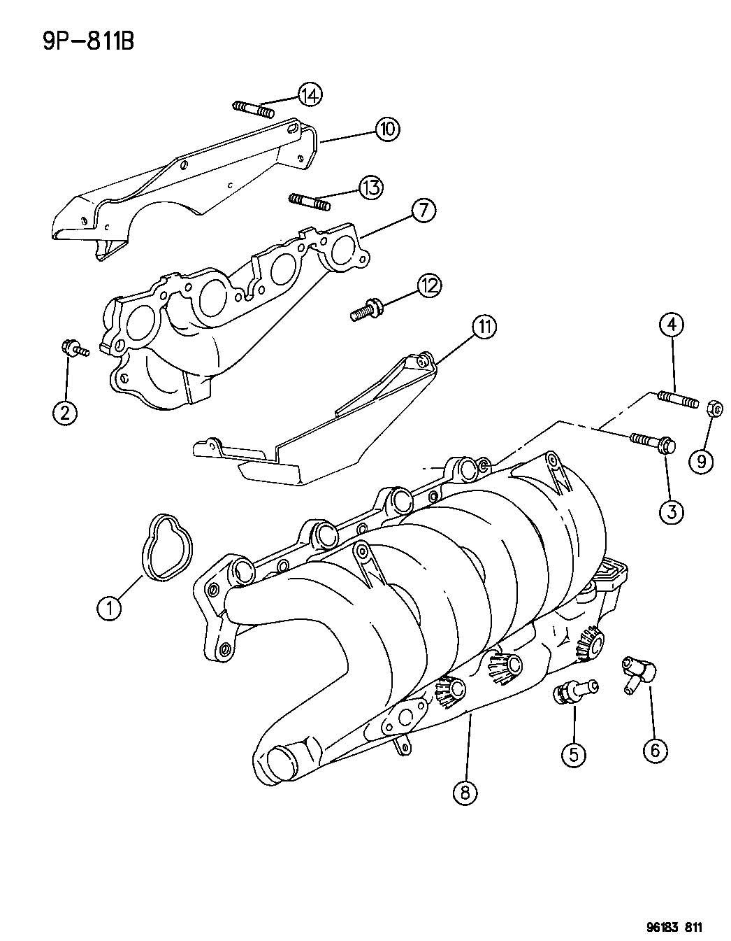 Manifolds Intake Amp Exhaust 2 0l Engine Sohc Ecb Ech Engine