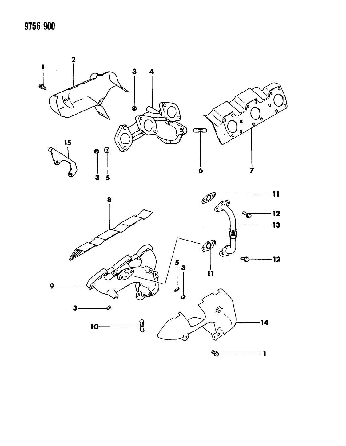 Chrysler Sebring Gasket Egr Tube Flange Manif Exh
