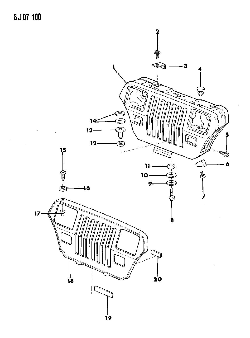 Jeep Grille And Related Parts Wrangler Yj