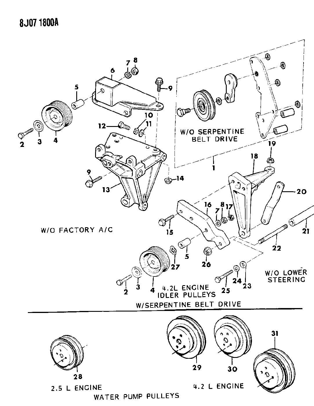 Jeep Wrangler Bracket Idler Bracket Idler