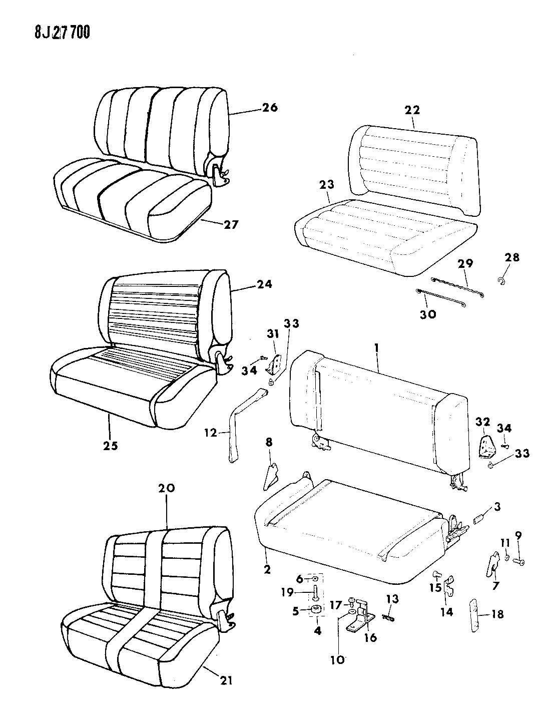94 Yj Seat Brackets