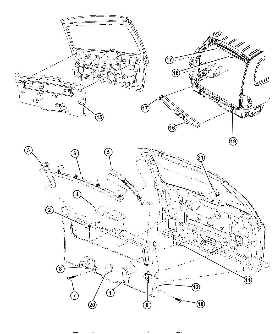Plymouth Voyager Plug Sliding Door Liftgate K5 Medium