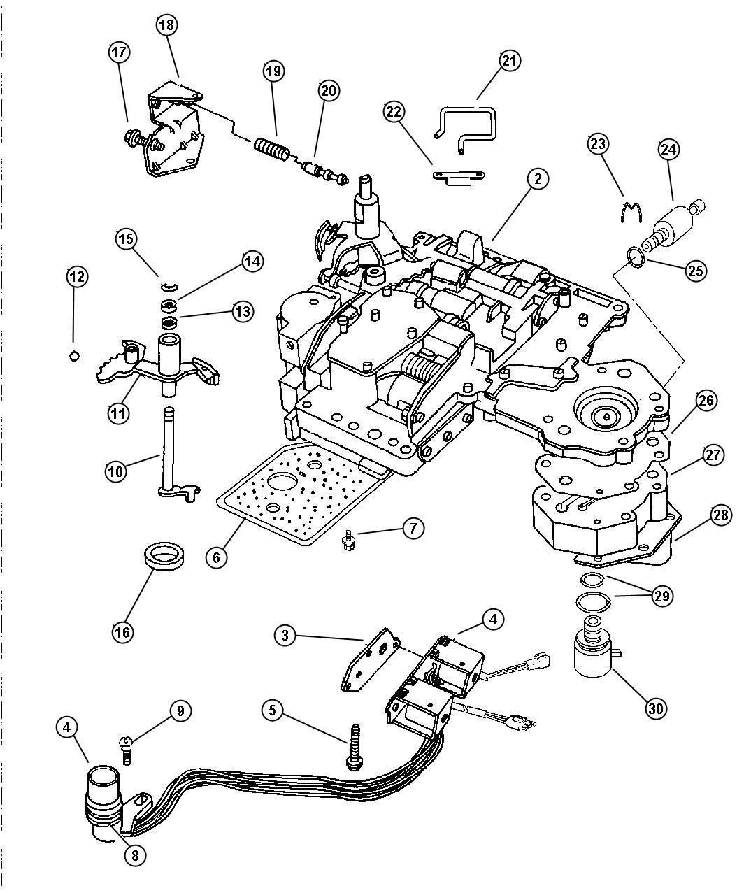 Jeep Wrangler Solenoid Transmission Overdrive Prong