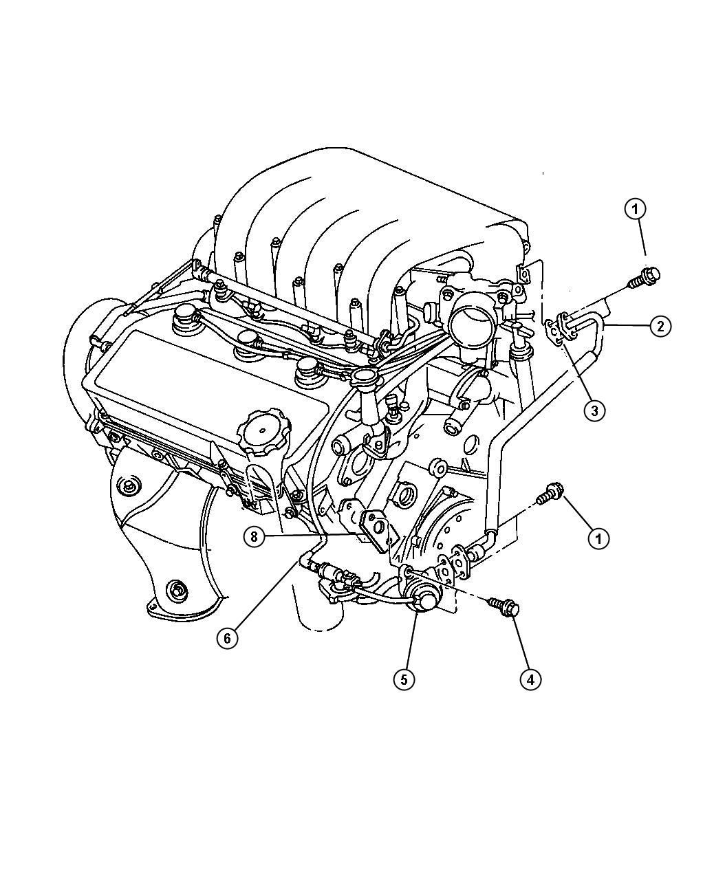 Chrysler Cirrus Egr System 2 5l Engine