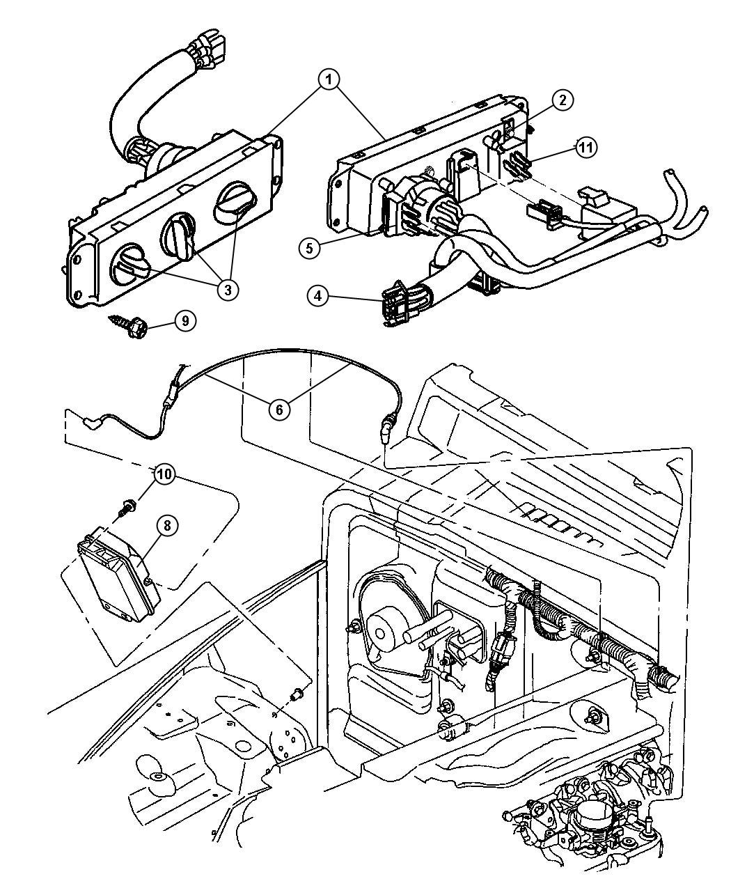Jeep Wrangler Control Heater And A C