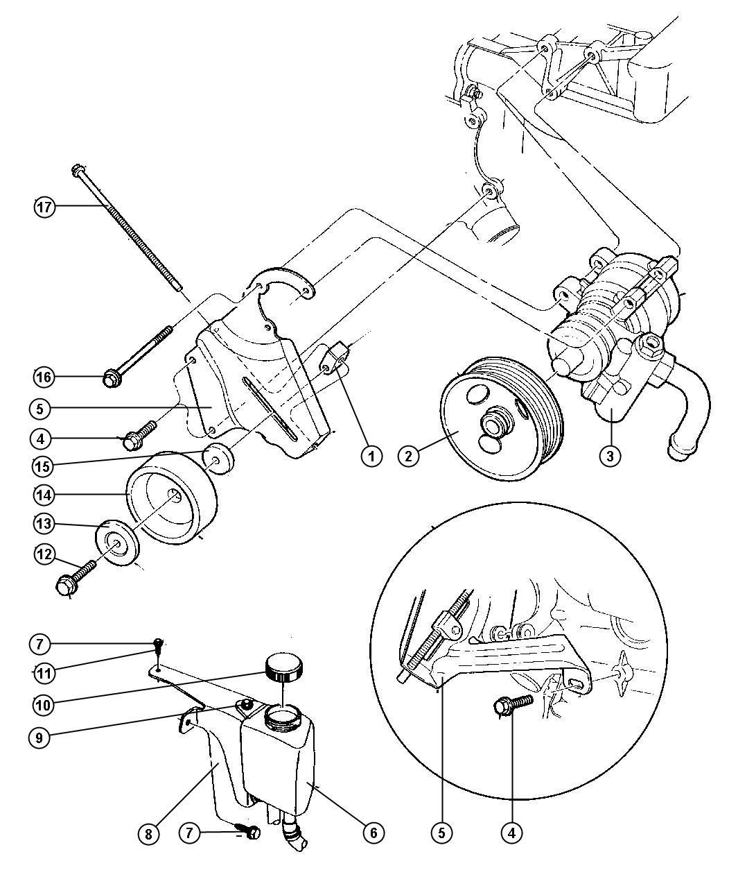 Jeep Wrangler Reservoir Power Steering Pump Steeringand