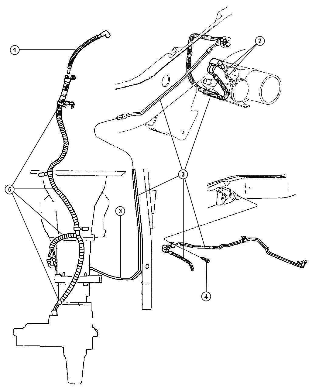 Vacuum Lines Front Axle And Transfer Case