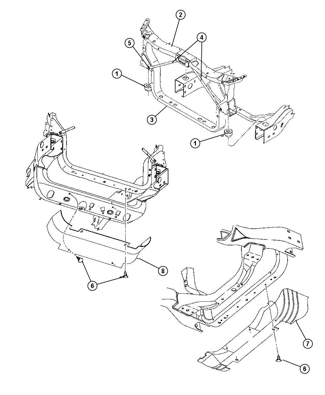 Dodge Durango Radiator Closure And Air Deflector