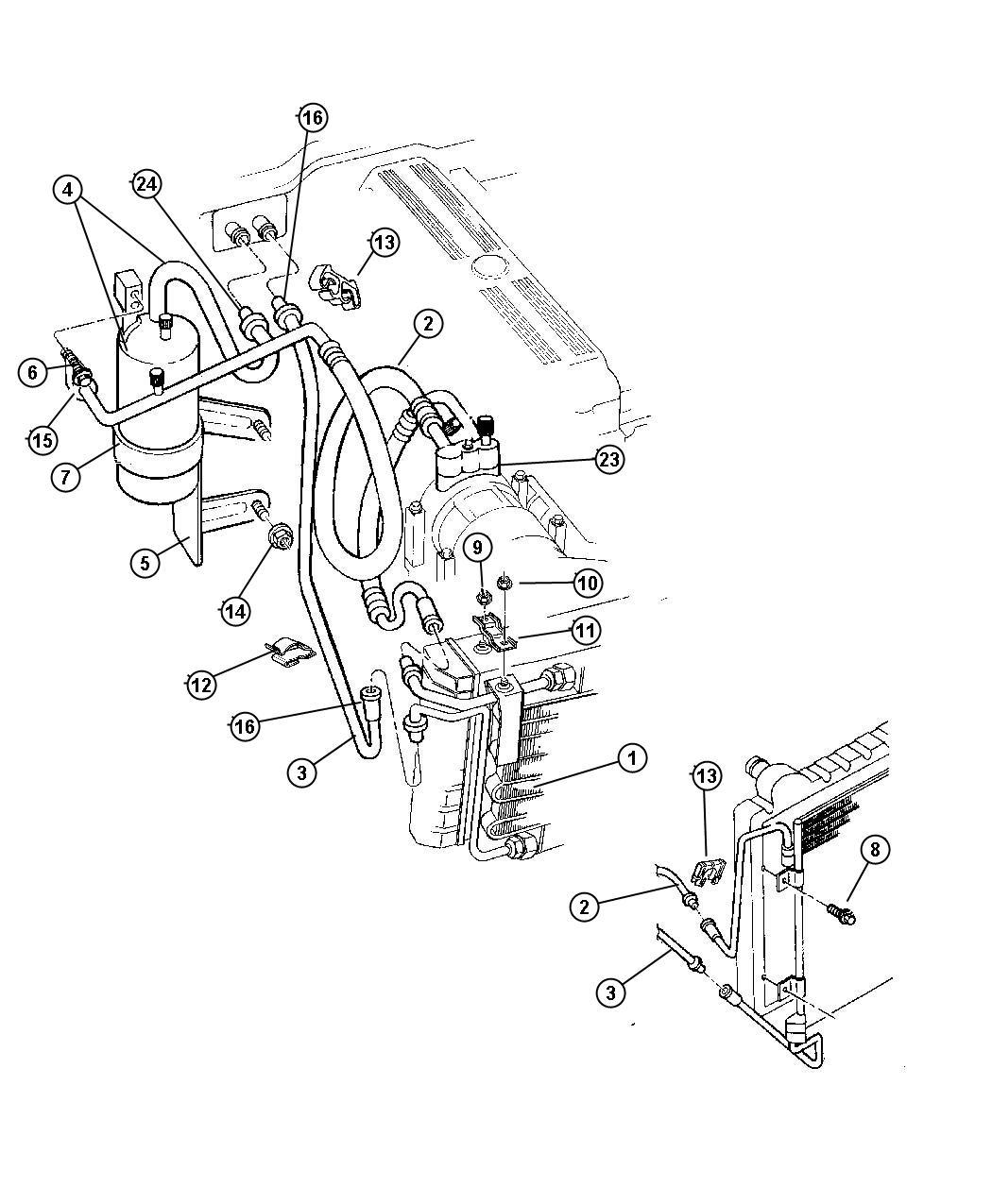 Jeep Cherokee Bracket Radiator To Condenser Bracket