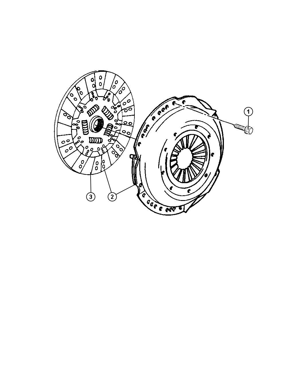 Dodge Ram Clutch Kit Disc Used For Pressure
