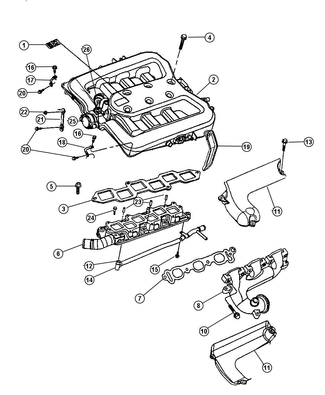 Service Manual Upper Intake Chrysler Lhs Replacement