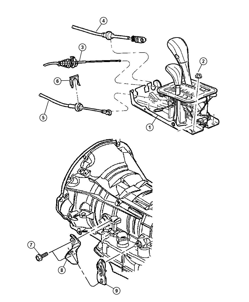 Jeep Grand Cherokee Bracket Shift Cable