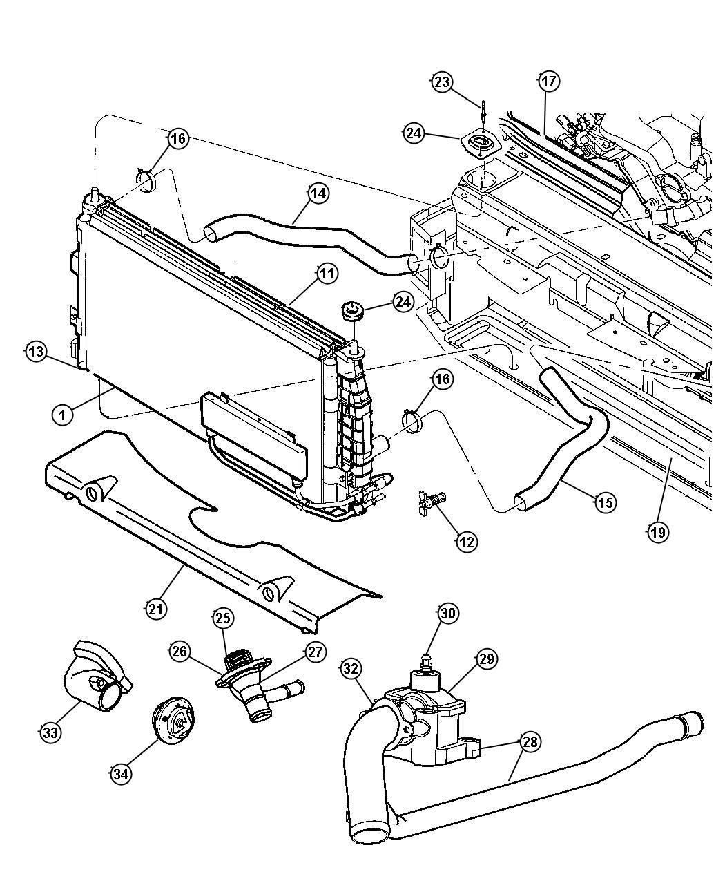 Chrysler Concorde Radiator Replacement