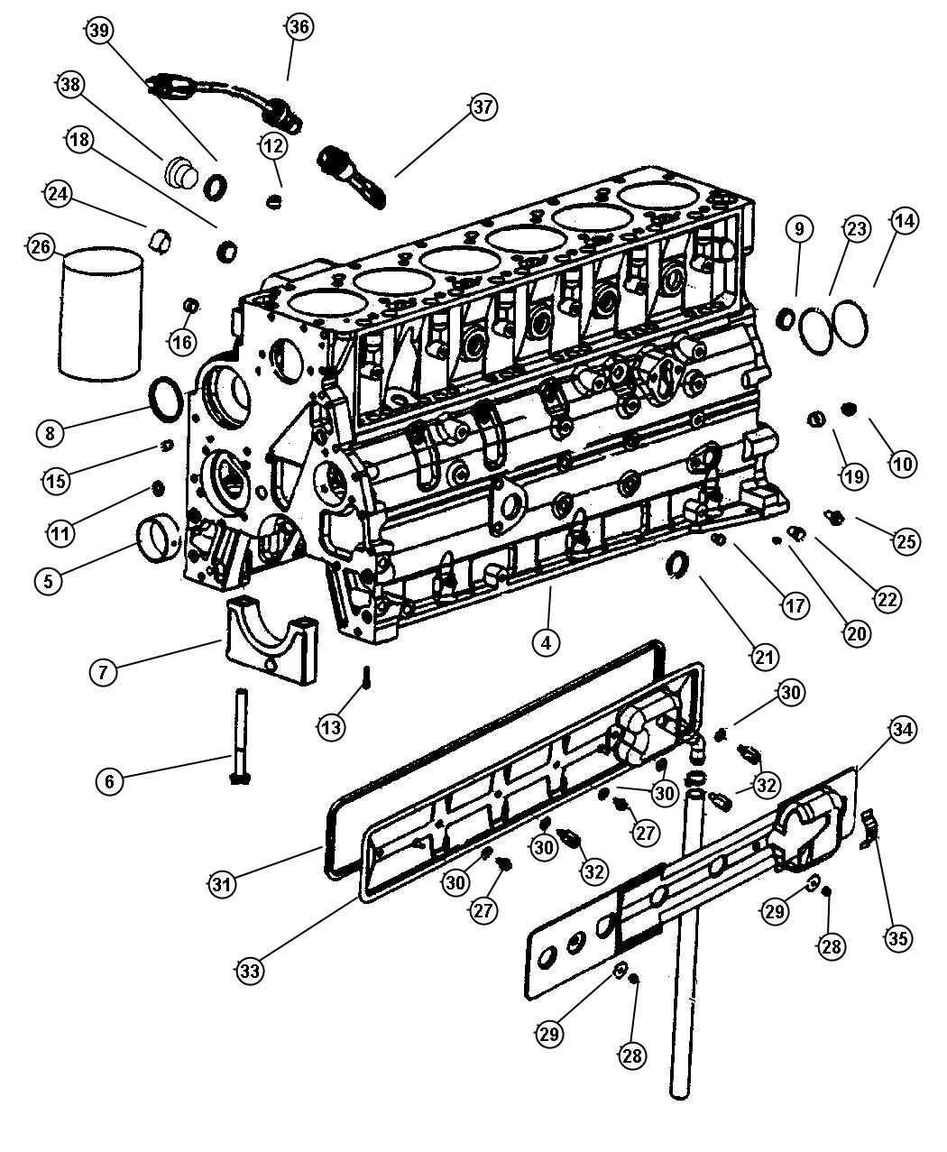 Dodge Ram Heater Engine Block