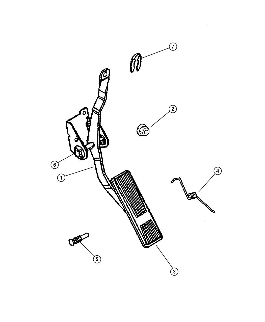 Jeep Wrangler Clip Retainer Cable Throttle Cable