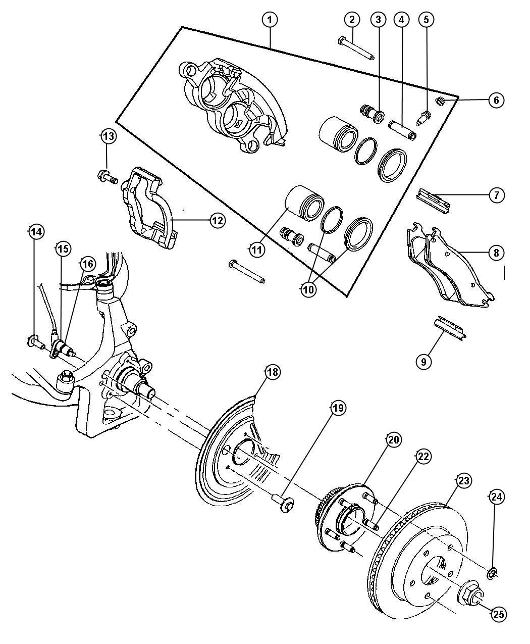 Dodge Dakota Washer Right Or Left Thrust Flat
