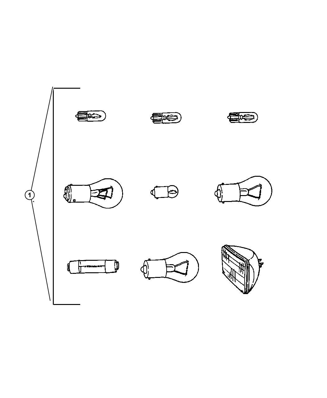 Chrysler 200 Bulb 567 Trim All Trim Codes Flood