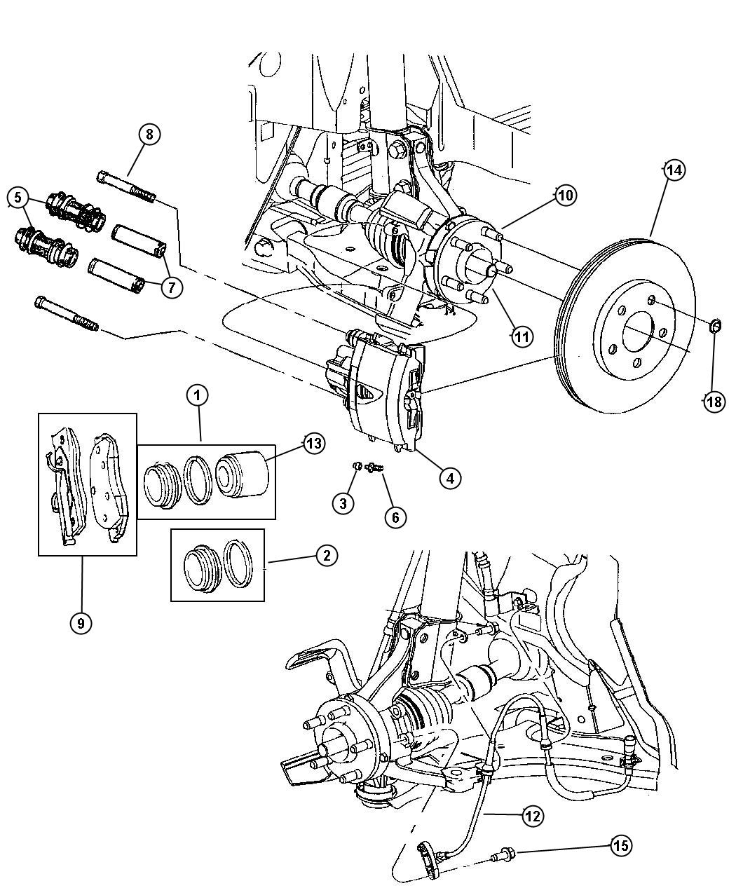 Chrysler Pt Cruiser Bearing Wheel