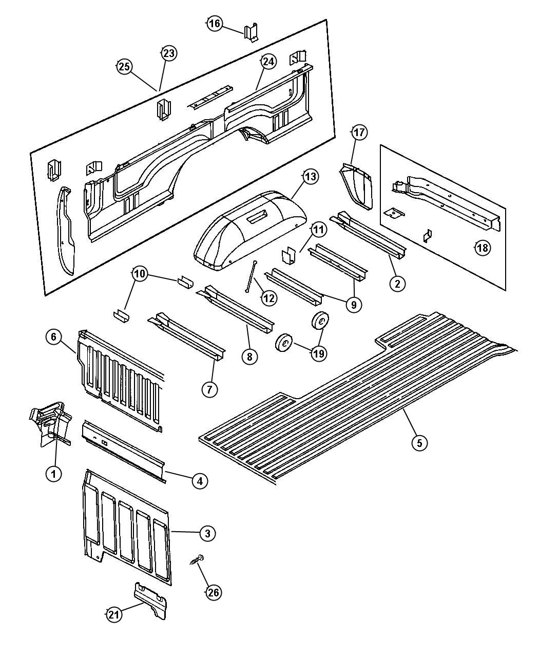Dodge Ram Box Panel Right Box Side Pickup Pemsa