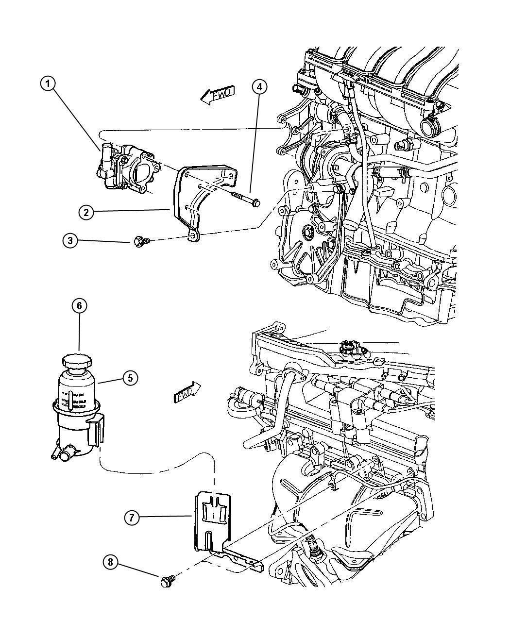 Chrysler Pt Cruiser Pump Power Steering Andreservior